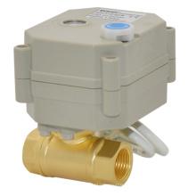 "1/4 "", 3/8"" Mini Válvula Elétrica Latão Água Motorizada Válvula de Esfera Shut-off"