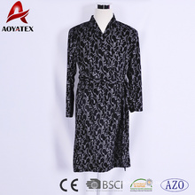 Animal printed low weight 180gsm water absorption terry cute microfiber thin bathrobe
