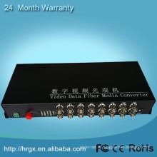 Разъем FC 20км цифрового оптического волокна 16 каналов видео-конвертер
