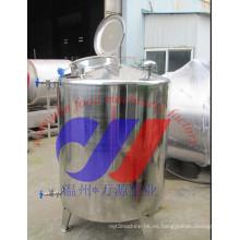 Tanque de agitador de una sola capa de acero inoxidable de 1500L