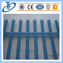 PVC Coated Ornamental Spear Top Steel Tubular Fence