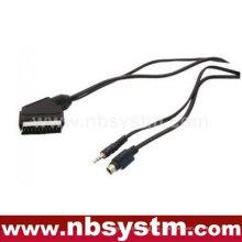 Scart-Stecker auf SVHS + 3,5 mm Stereo-Stecker-Kabel