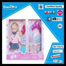 Popular fashion doll toy with hair dryer baby dolls that look real