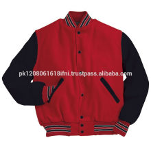 Black Red custom made varsity jacket unisex