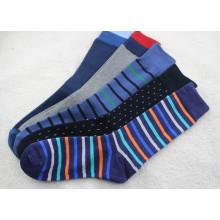 Calcetines de algodón para hombre con rayas