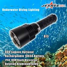 Plongée sous-marine 800lm Portable LED Metal Torch