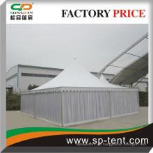 10x10m Romantische PVC-Pagode Marquee Zelt Dekorationen mit Boden und Innenauskleidungen In Guangzhou