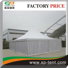 10x10m Décorations romantiques en PVC à la pagode de la pagode avec des revêtements intérieurs et intérieurs à Guangzhou