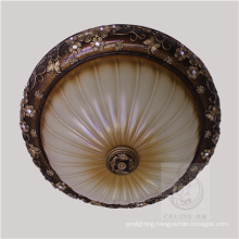 Resin Ceiling Lamp with Beige Shade (SL92678-3)