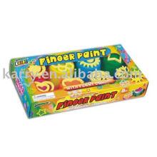 Peinture pour les doigts éponge 8 couleurs