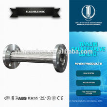 stainless flexible metal hose pipe flange
