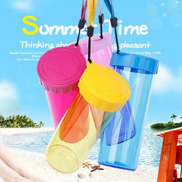 450ml bunte transparente Kunststoff Sport Wasserflasche (SLSB03)
