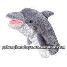Nuevo tipo relleno peluche marionetas mano de delfín