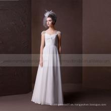 Una línea encantadora Criss Cross plisados dulces bolas de corazón de manga de gasa vestido de novia recolectada falda
