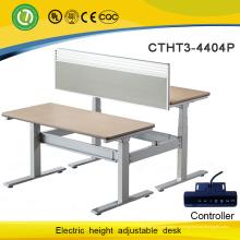 Современный и мода Электрический Высота Регулируемый подъем компьютерный стол для двух человек
