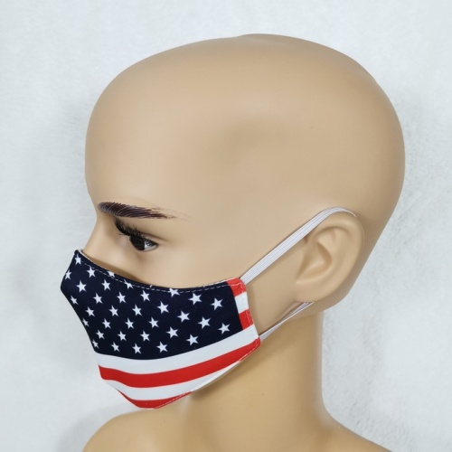 Costom Design USA Flag Face Cover