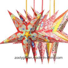 Рождественский Фестиваль / Партийное Украшение Висящие Бумажные Звездные Фонари