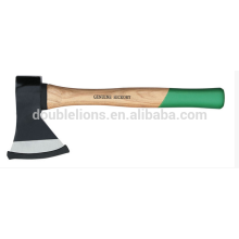 Steel forged axe with hickory handle