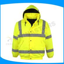 hot sale waterproof reflective winter jackets with cotton padding inside