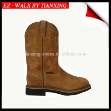 SQUARE TOE WORK BOOTS WITH BORDEDOR