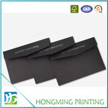 Custom Wholesale Logo Embossed Black Cardboard Envelope