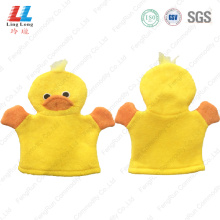 Yellow duck cute bath gloves sponge