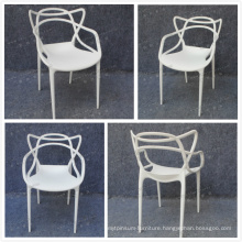 Dining Room Stackable Plastic Stool with Arm (YC-P33-1)