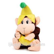 Diseño personalizado mono de juguete de peluche con plátano