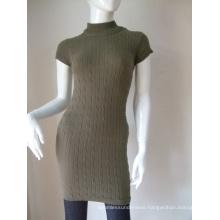 Women's Short Sleeve Seamless Cotton Long Dresses
