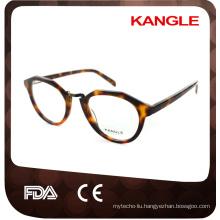 Man shape hot seller acetate with metal optical frames & acetate eyeglasses eyewear