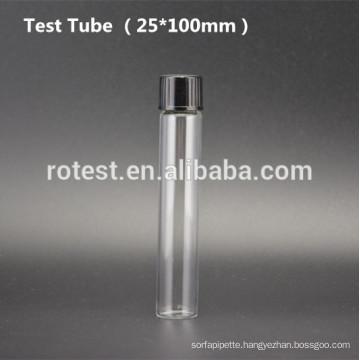Flat Bottom Glass test tube (25*100mm) with bakelite screw cap
