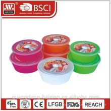 Runde Mikrowelle Lebensmittel-Container (2pcs)1.65L/2.55L