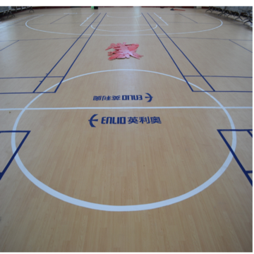 Indoor PVC Rolling Wood-achtige basketbalvloeren