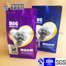 Размерная упаковка для пищевых продуктов из пластика для домашних животных с плоским дном