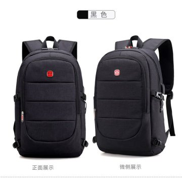 Estudiante Bookbag Durable Laptop Backpack USB Puerto de carga