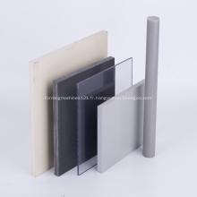 Feuille de plastique PVC rigide feuille de PVC blanc gris
