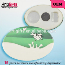 Promotional Badge Printing Oval Tin Badge Button