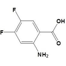 2-Amino-4, 5-difluorobenzóico Acidcas No. 83506-93-8