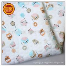 Para o vestido, pano de bebê 100% algodão tecido único jersey