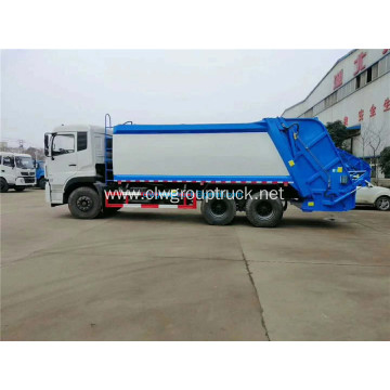 Dongfeng 6x4 hydraulically rear loader garbage truck