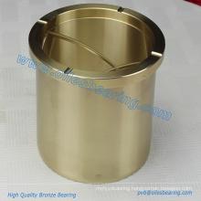Aluminum Bronze Oil Free Flanged Roller Guide Bushes,Based On Copper Alloys Ingots Materical Bearing,Cast Bronze Flange Bush