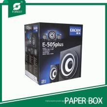 Dobra feita sob encomenda / lustrosa / gravando / caixa de papel ondulada revestimento UV