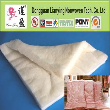 L'ouate de fibre de polyester recyclé pour les nattes