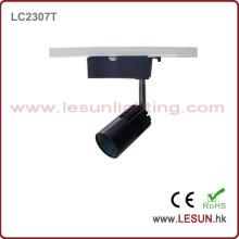 Luz de pista pequeña de la MAZORCA LED del tamaño 7W 3 alambre con color negro LC2307t