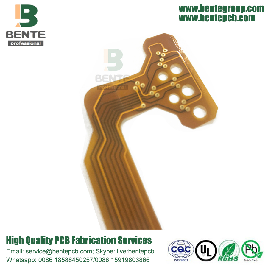 2 capas de PCB flexible ThinFlex PI ENIG
