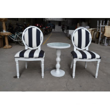 2015 French wooden louis chair and side table XYN433