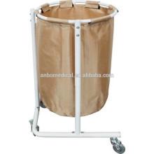 Тележка для хранения мешка для сбора и транспортировки загрязненного белья через больничный комплекс