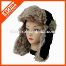 2016 Hot Selling Real Lamb Fur Earflap Hat with ear warmer