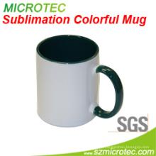 11oz Sublimation beschichtete keramische zweifarbige weiße keramische Tasse