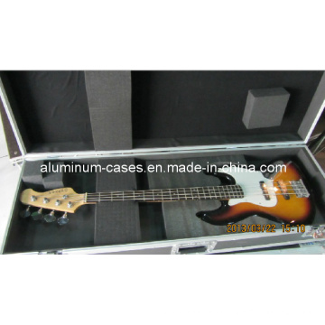 Personalizar al por mayor la caja de vuelo de guitarra con caja de aluminio de espuma
